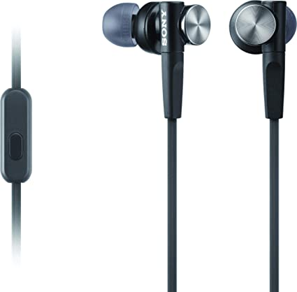Amazon Com Sony Mdrxb50ap Extra Bass Earbud Headphones Headset With Mic For Phone Call Black Home Audio Theater