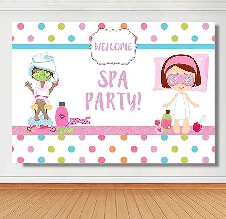 Sensational Sensfun Spa Themed Birthday Backdrop Pamper Slumber Party Photo Personalised Birthday Cards Xaembasilily Jamesorg