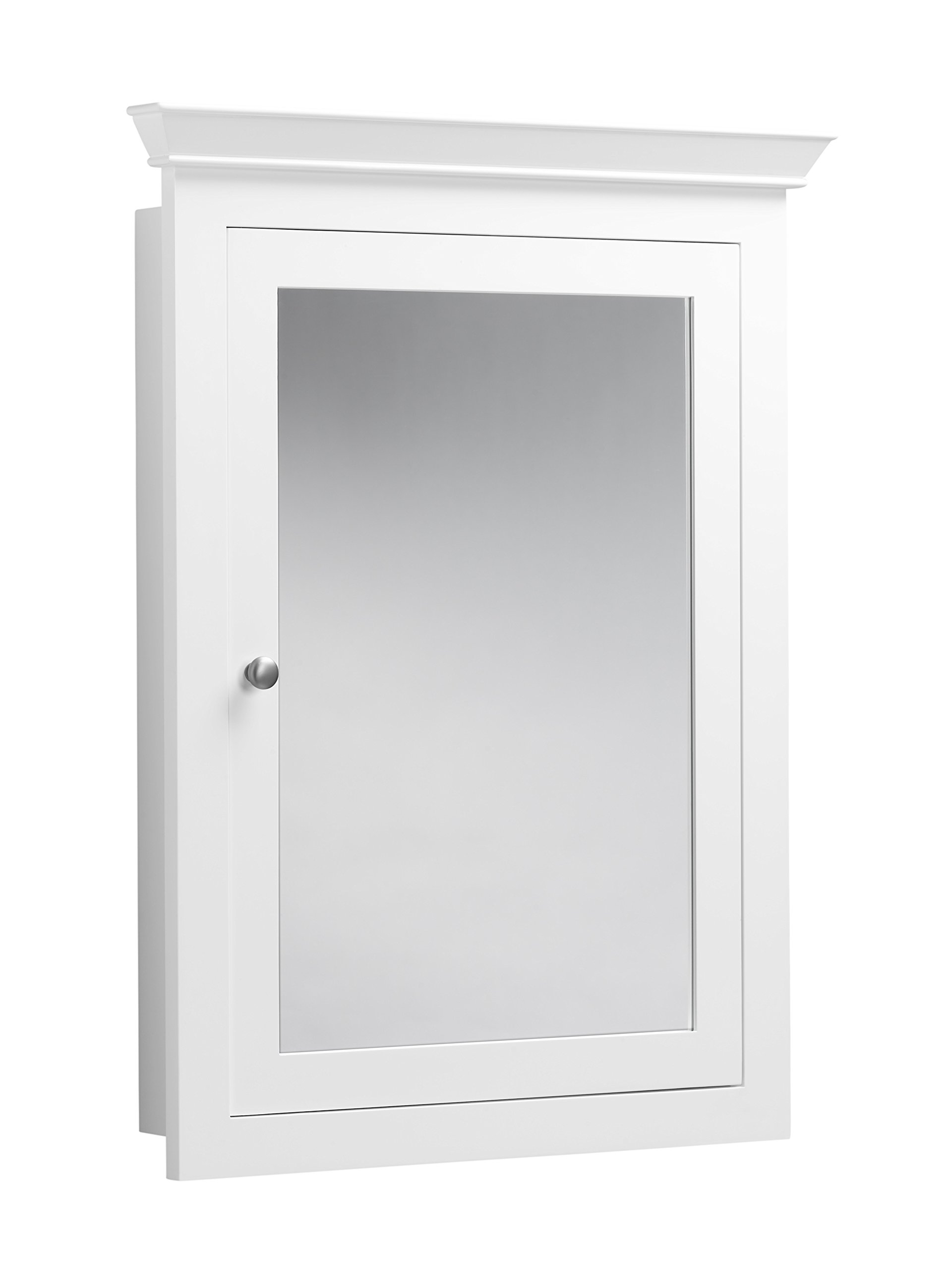 RONBOW Edward 27'' x 34'' Transitional Solid Wood Frame Bathroom Medicine Cabinet with 2 Mirrors and 2 Cabinet Shelves in White 617026-W01