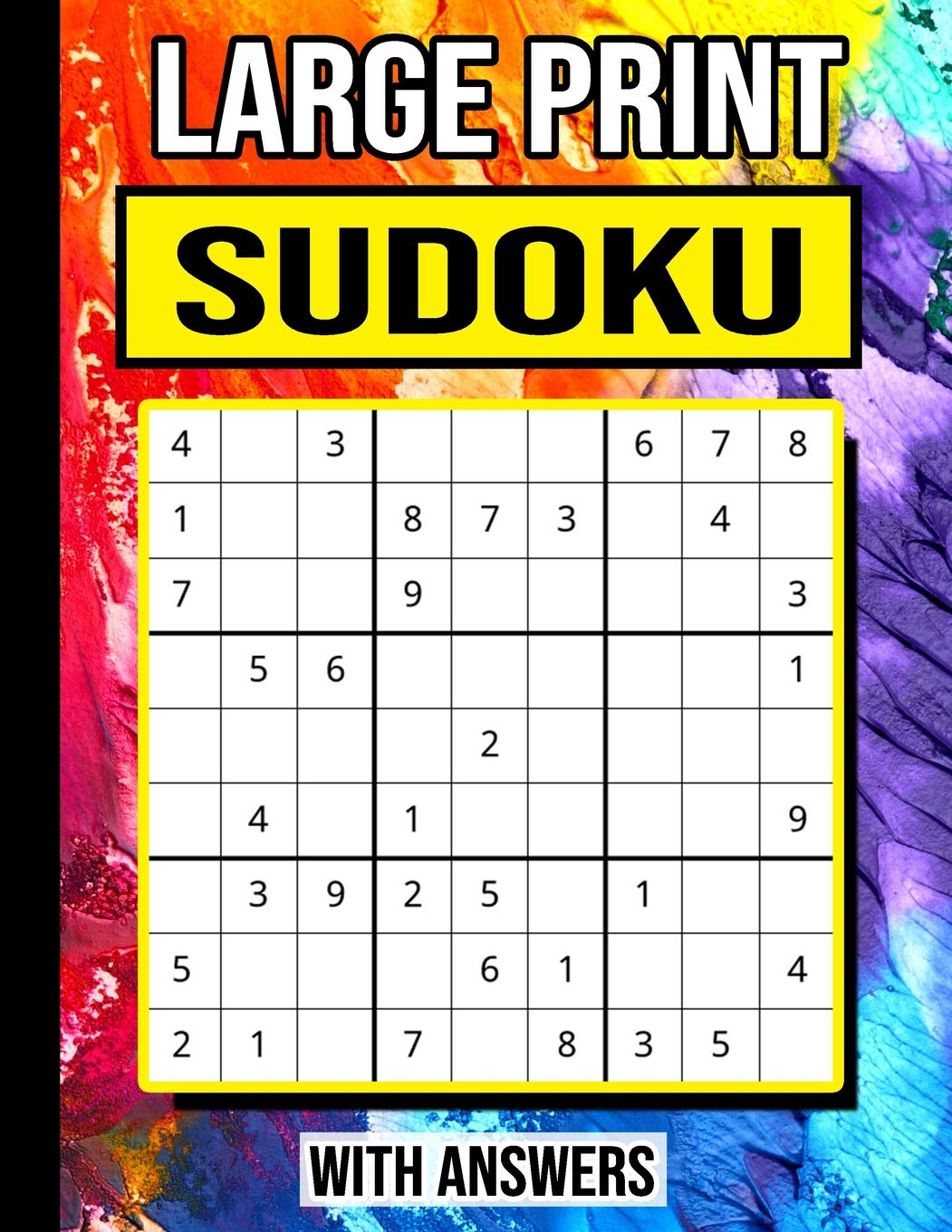 Large Print Sudoku: Puzzle Book For Beginners: Easy (with