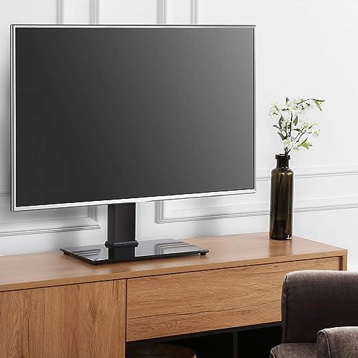 FITUEYES Soporte TV de 26 a 55 Pulgadas hasta 40 kg Giratorio 60 Grados Altura Ajustable Soporte de Mesa para TV Plana Curva LCD LED OLED Plasma: Amazon.es: Electrónica