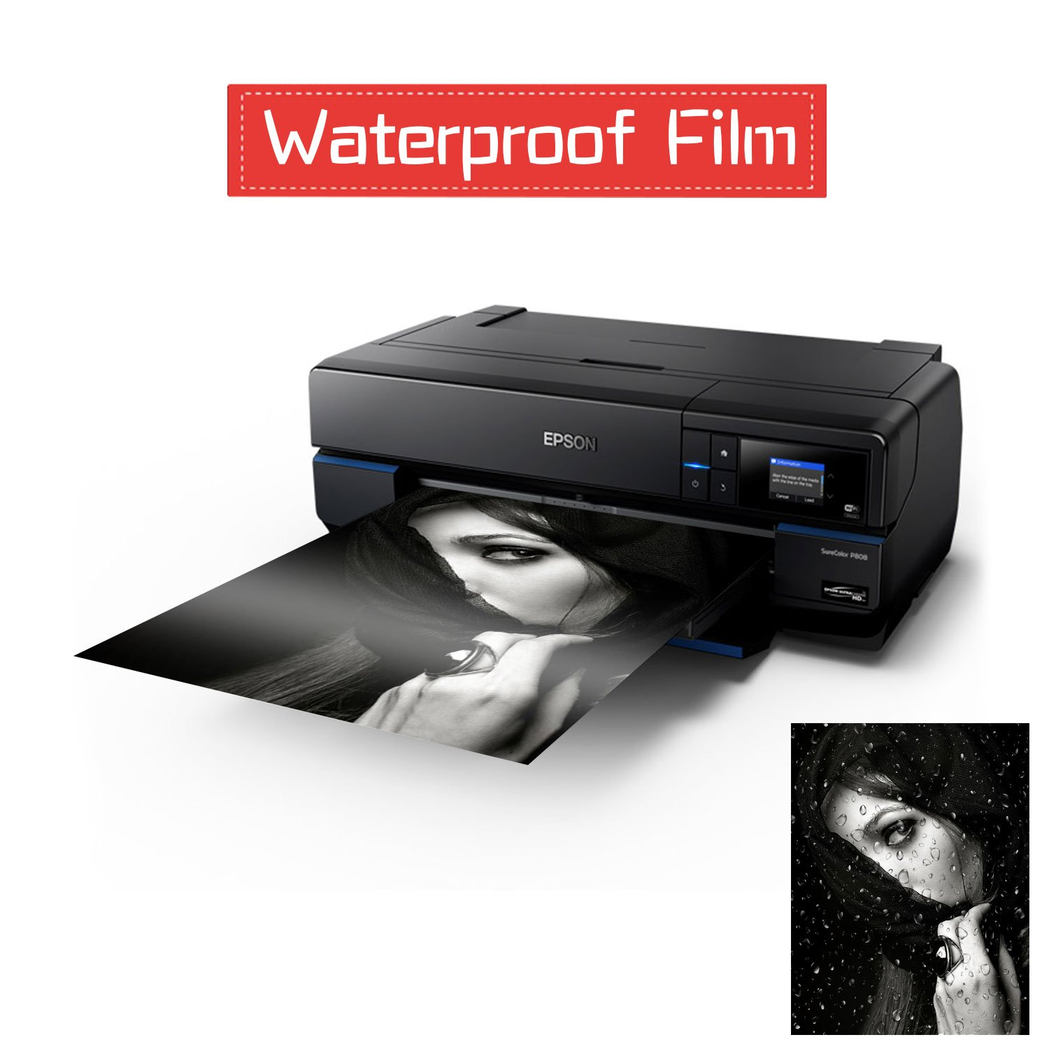 for Screen Printing A-SUB 100 Sheets Waterproof Inkjet Transparency Film 8.5 x 11 inch