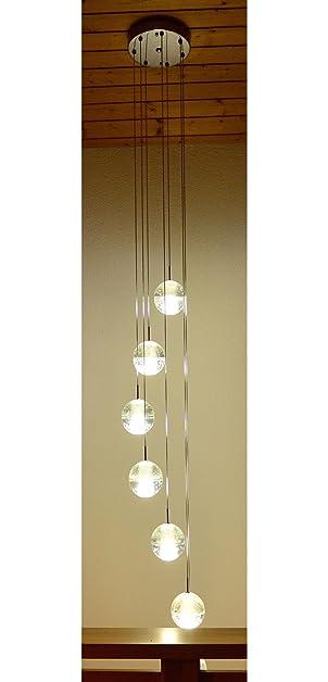Phube Lighting LED Meteor Shower Chandelier Light Fixtures Staircase ...
