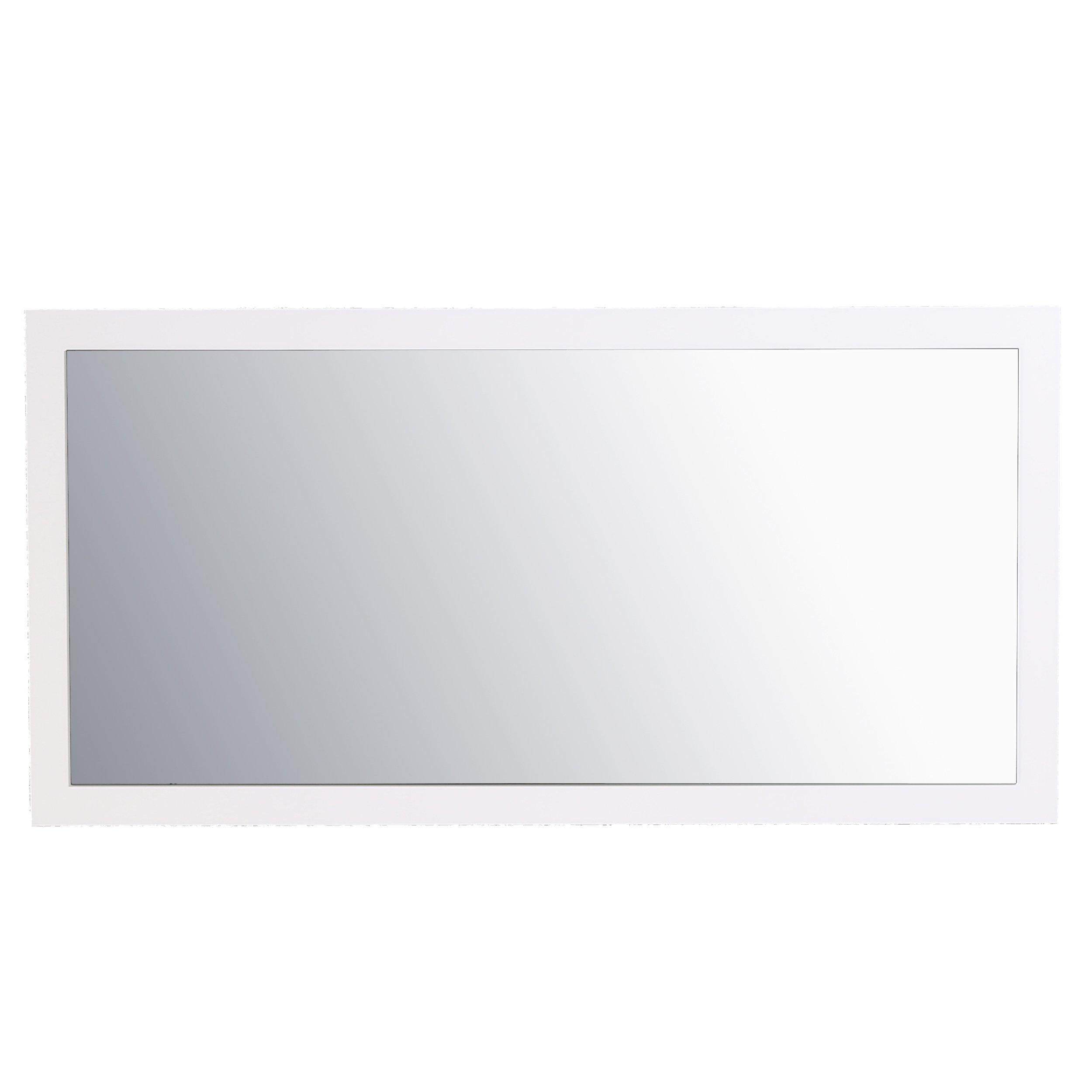 Eviva EVMR-60X30-GWH Sun 60'' White Mirror Combination, Gloss White