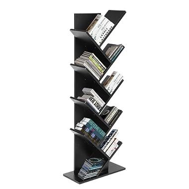 JOO LIFE 9 Shelf Tree Bookshelf Book Rack Bookcase Display Storage Furniture Organizer Freestanding Bookshelves for CDs Movies & Books