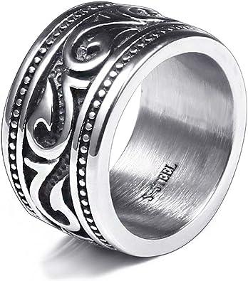anelli uomo acciaio amazon
