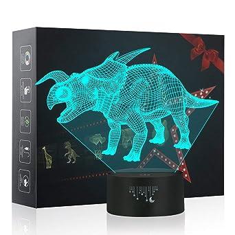 7 Couleurs Illusion Dinosaures 3d LampesBesrina Led Veilleuse 3lKuT1JFc5