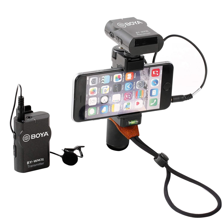 Canon 6D 600D Nikon D800 D3300 Sony A7 A9 DSLR GoPro Hero4 Hero3 Hero3 Sistema de micr/ófono inal/ámbrico Lavalier BOYA BY-WM2G Compatible con iPhone 8 8 Plus 7 6 Smartphone Action Cameras