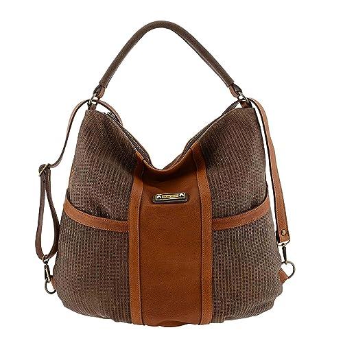 Bolso mochila piel Talla: U Color: CAMEL: Amazon.es: Zapatos y complementos