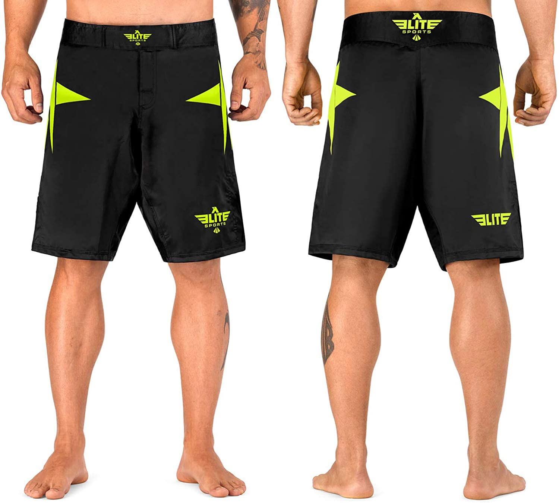 SOTF Mens MMA Stretch Shorts Print BJJ Running Fitness Sports Shorts