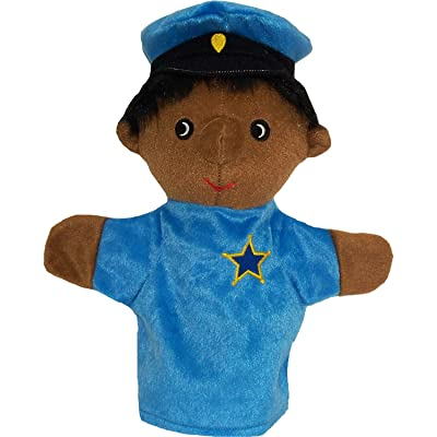 "Get Ready Kids MTB456 Police Officer Puppet, 3.7"" Height, 10.7"" Wide, 6.2"" Length, Black: Industrial & Scientific"