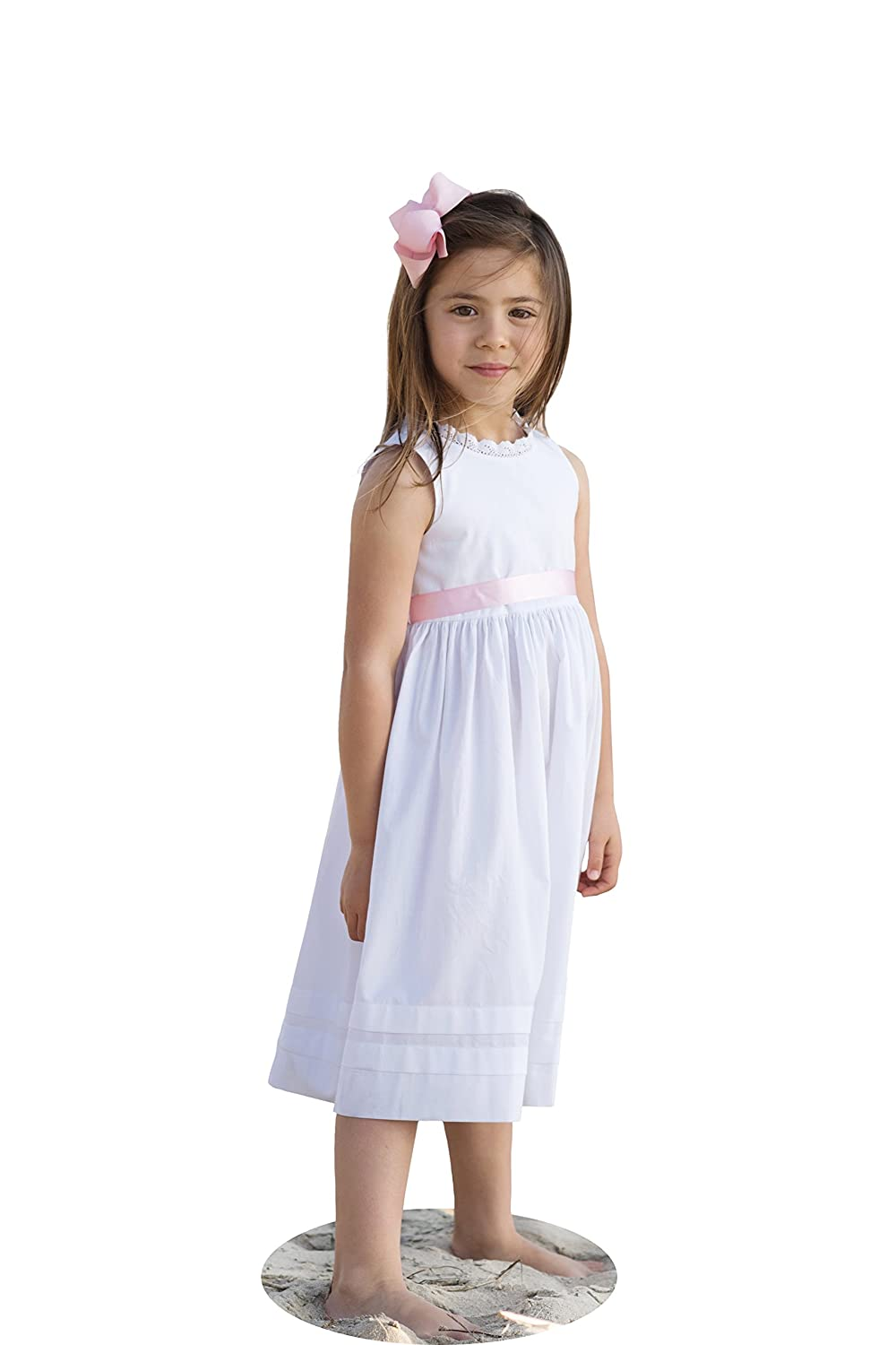 d61693c5f Amazon.com  Strasburg Children Girls  Lace Beach Gown Summer Dress ...