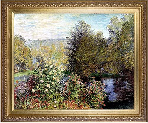 Claude Monet Art Reproduction Monet Water Lilies Paintings Giclee Canvas Prints Corner of The Garden Wall Art