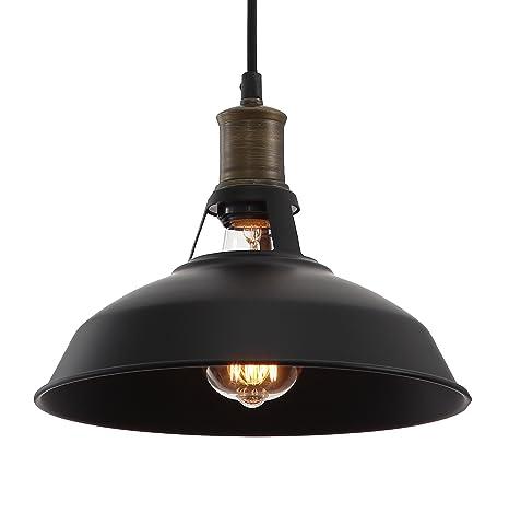 e04f281678 Industrial Retro Vintage Black Pendant Lamp Kitchen Bar: Amazon.co.uk:  Lighting