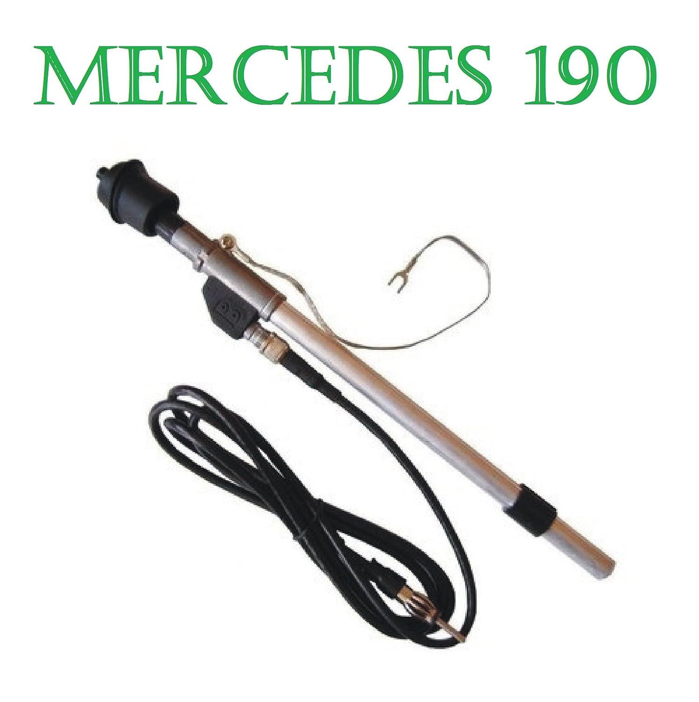 190 W201 Kotflü gel Antenne Teleskopantenn e DIN-Stecker Soling