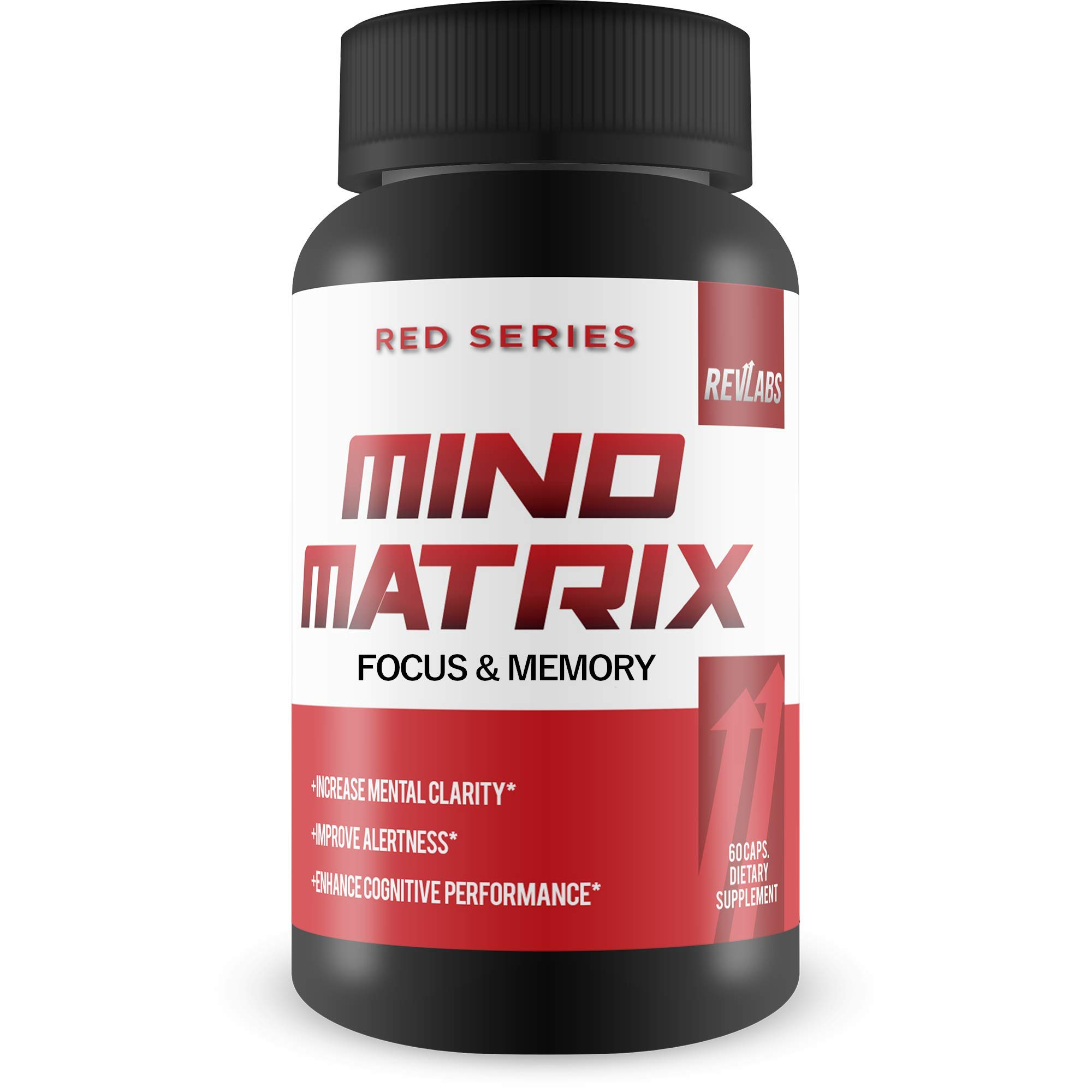 Mind Matrix Memory, Focus & Clarity Formula - Brain Booster Nootropic Supplement Scientifically Formulated for Optimal Performance with Bocopa Monnieri and DMAE - g Fuel for IQ, 60 Cap by Rev Labs