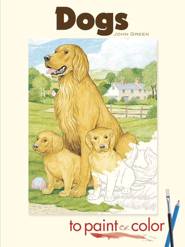 Dogs To Paint Or Color Dover Art Coloring Book John Green 9780486465418 Amazon Books