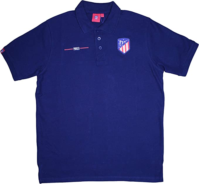 Atlético de Madrid Polo Azul Marino - 1903 con Escudo Original ...