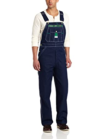 Liberty Mens Rigid Denim Bib Overalls w Zippered Phone Pocket Regular Big Tall