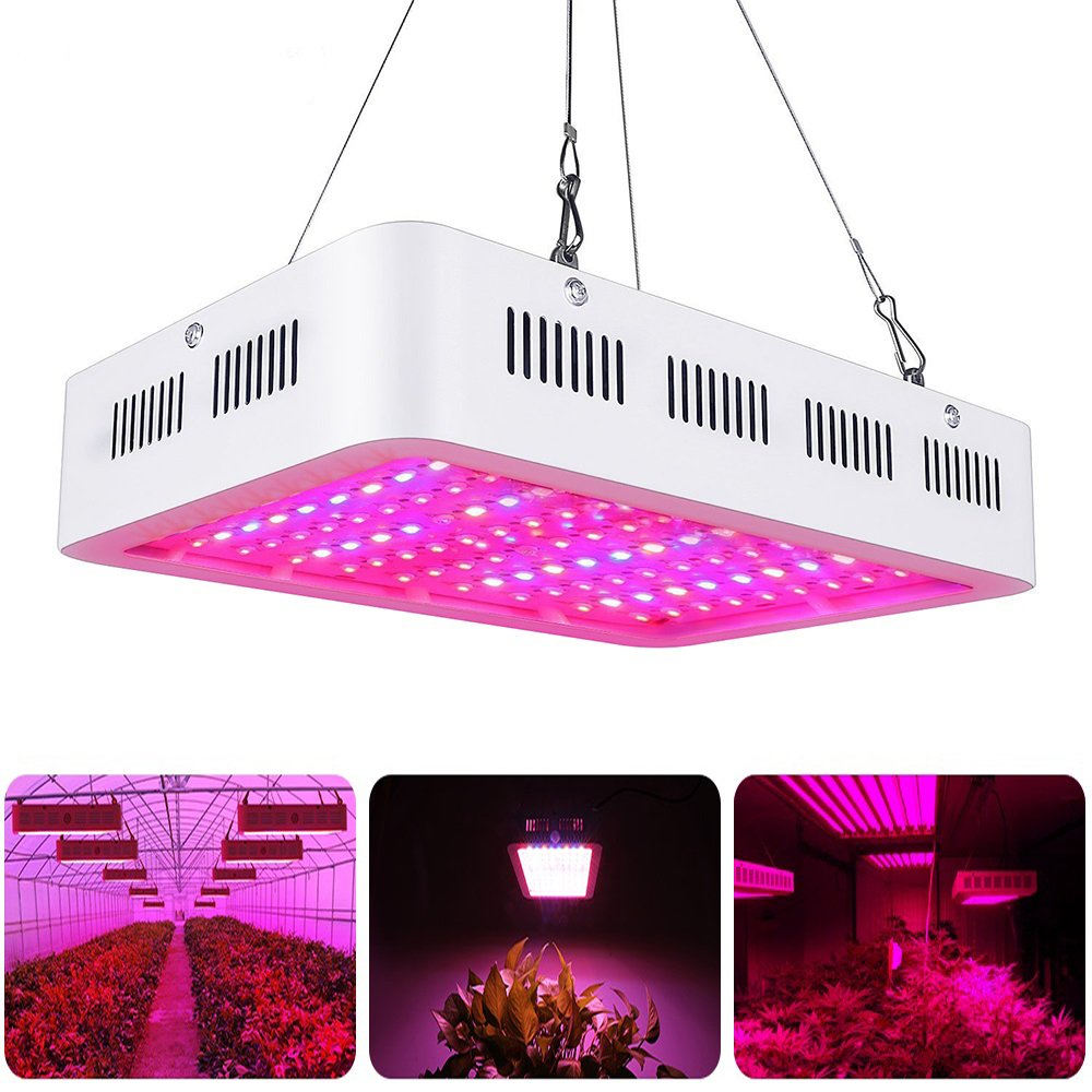 LVJING 1000W LED Plants Grow Light Full Spectrum Double Chips Growing Lamps with UV and IR for Indoor Plants Veg and Flower Hydroponic Greenhouse Kit by LVJING