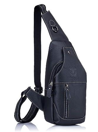 Amazon.com: GOODTAKE Moda Bolsas de piel auténtica para ...