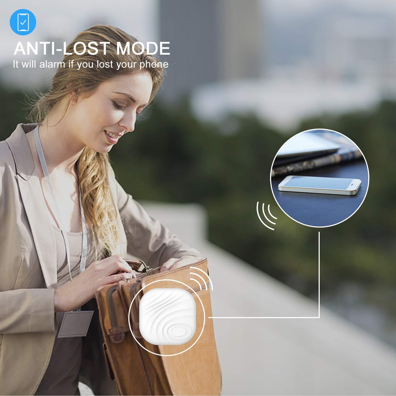 MADETEC Smart Key Finder Anti-Lost Bluetooth WiFi Tracker Alarm GPS Locator Bidirectional Alarm Reminder for Phone,Kids, Pets, Keychain, Wallet,Luggage(Gray)