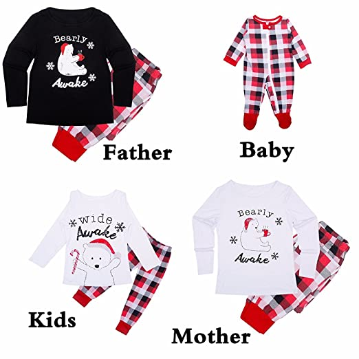 a097303e81db Amazon.com  Yunchuang Matching Family PJS Christmas Entire Family ...