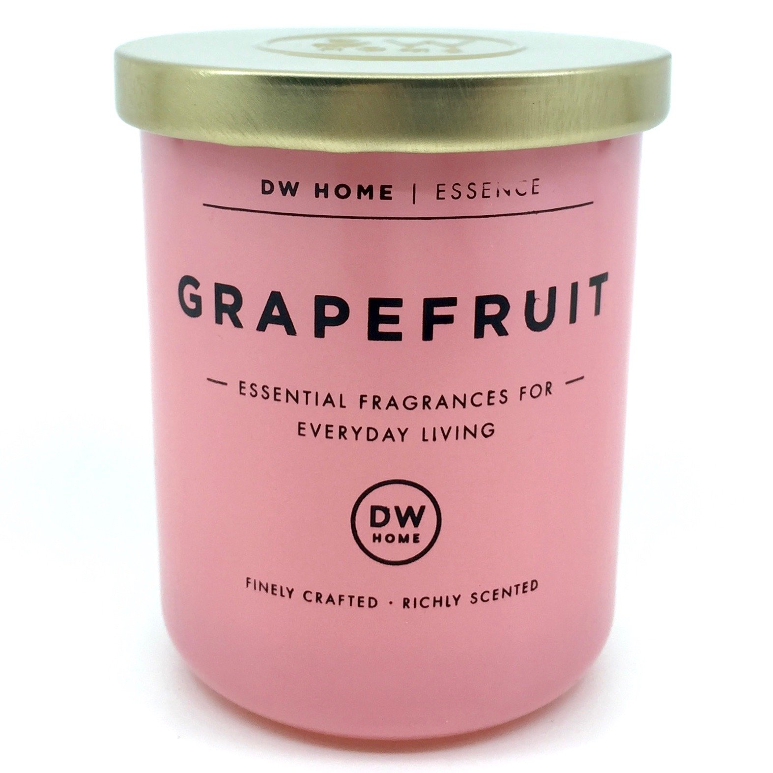 Small DW Home Grapefruit Scented Soy Wax Blend Candle Essential Fragrances For Everyday Living