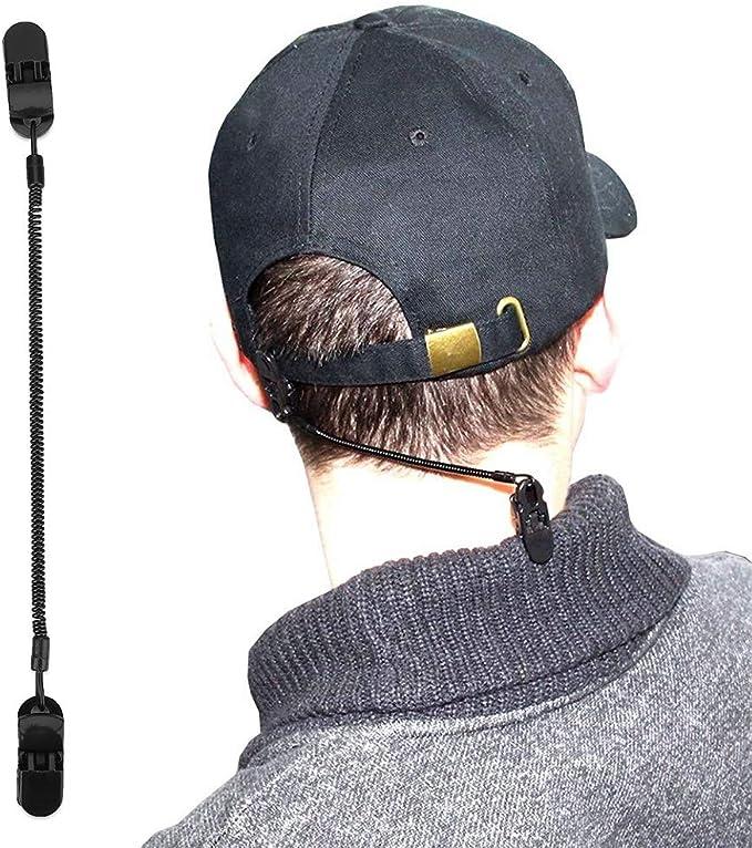 Clips for sombreros - Retenedor de la tapa for el tenedor del encargado de la ropa del golf y de la pesca y el cable en espiral 3pcs / Pack