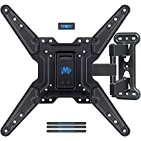 Mounting Dream Full Motion TV Wall Mount with Perfect Center Design for Most 26-55 Inch LED, LCD, OLED Flat Screen TV, TV Mount Bracket with Swivel Articulating Arm, up to VESA 400x400mm MD2413-MX
