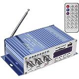 WINGONEER 12V Hi-Fi stereo amplificatore audio digitale USB SD DVD FM Audio Radio stereo MP3 altoparlante per auto Bluetooth amplificatore Hi-Fi Mini 2 Channel Digital Display Player potere per iPod / automobile / barca / moto