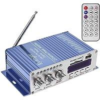 WINGONEER 12V Hi-Fi Stereo amplificador de audio digital de DVD USB SD FM estéreo audio MP3 de radio del coche del…