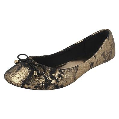 Ladies Spot On Flat /'Ballerina Shoes/'