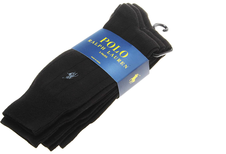 Polo Ralph Lauren – Juego de 3 pares de calcetines de algodón ...