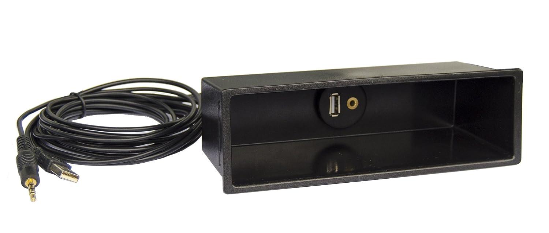 KFZ DIN Radio Ablage Fach mit USB & AUX Buchse Stecker Verlängerung ...