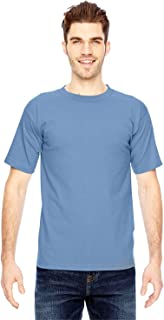 product image for Bayside Men's American Made Cotton Basic T-Shirt, Carolina Blue, Small