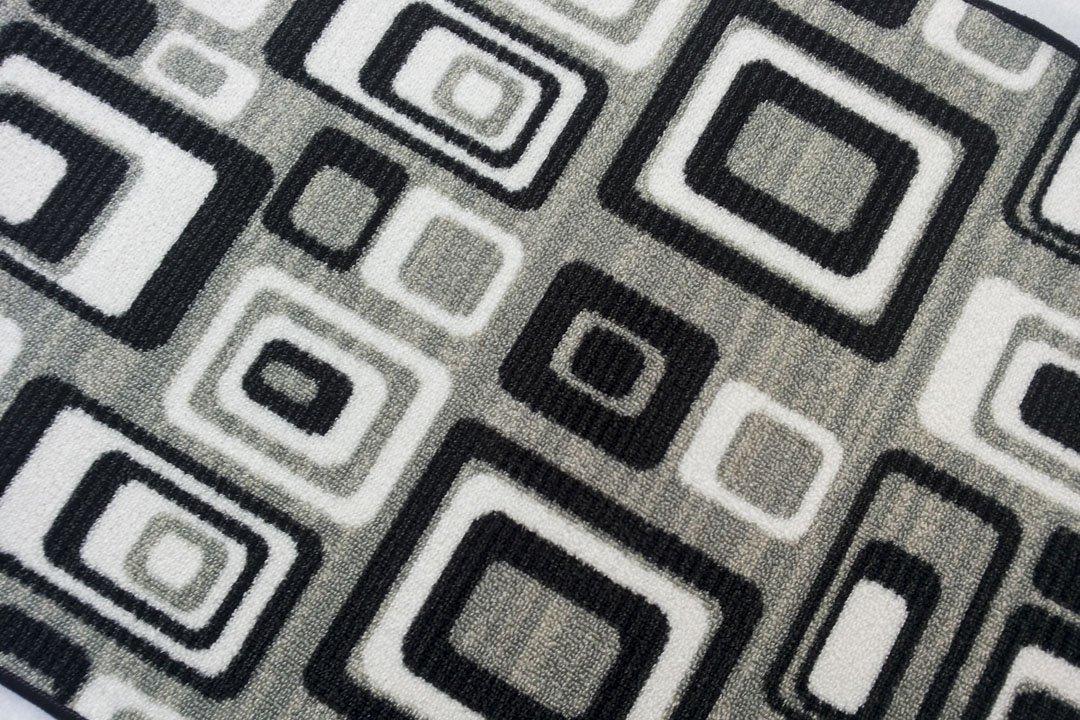 Abstract Round, passatoia al Metro in Stile Moderno - Arancione - Larghezza 67 - Lunghezza al Metro Sedia Mario