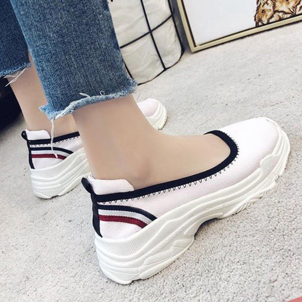 GAOLIXIA Frauen PU-Müßiggänger-Schuh-Pumpen-Frühlings-Sommer-Flache Sandelholze Bequeme im Freien zufällige zufällige zufällige Schuhe 14871d