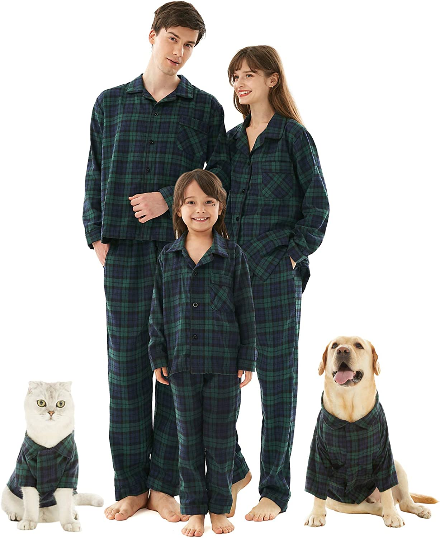 Womens Pajamas Set /& Men Christmas Buffalo Plaid Pjs Matching Couple Set Family Sleepwear for Kids and Pets