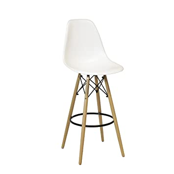 Amazon.com: Design Tree Home Charles Eames Style DSW Counter Stool ...