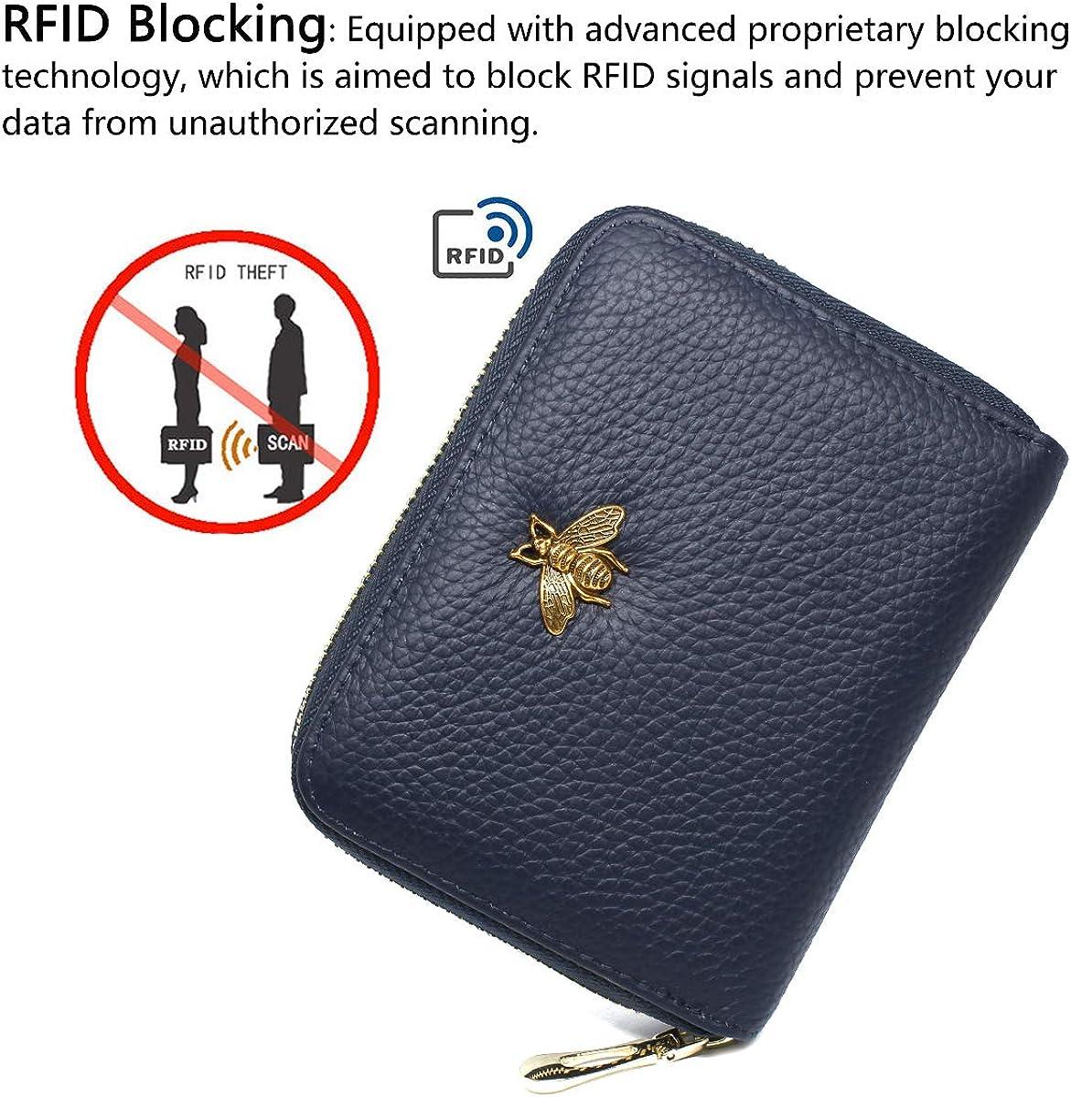 imeetu RFID Credit Card Holder Leather Card Organizer for Women M