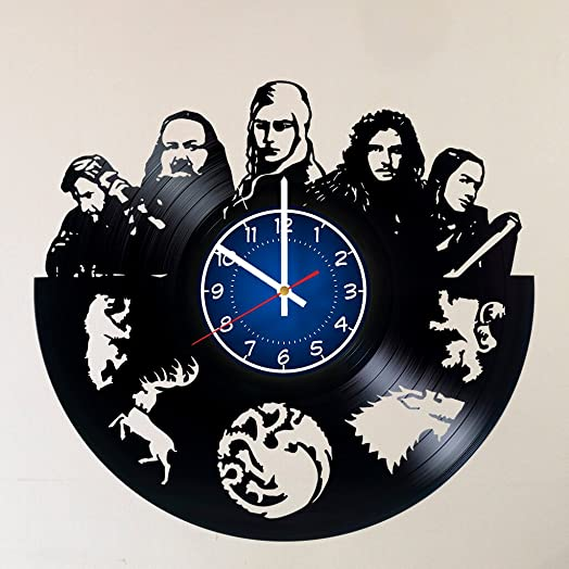 GAME OF THRONES Handmade Vinyl Record Wall Clock