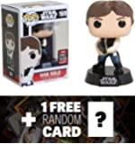Han Solo (2017 Galactic Convention Exclusive): Funko POP! x Star Wars Vinyl Figure + 1 FREE Official Star Wars Trading Card Bundle (11841)