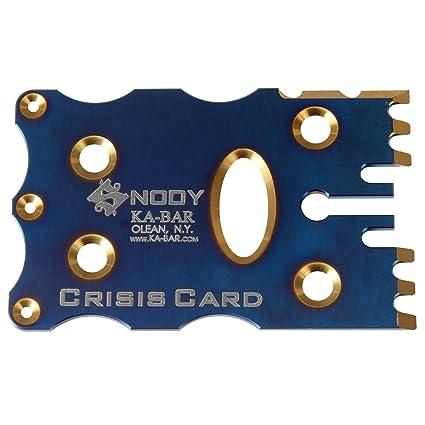Amazon.com: KA-BAR 5104 snody Crisis tarjeta, Azul: Sports ...