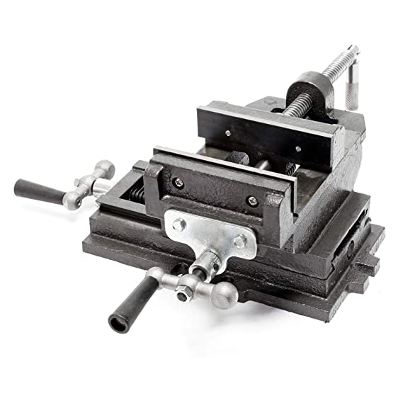 Maschinenschraubstock Schraubstock2-Achsen 125 mm Kreuztisch ...