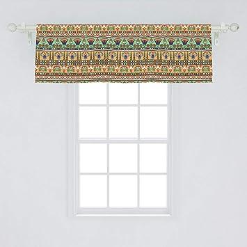 Floral Home Decor #3-50 Vintage Swedish Cotton Window Valance Brown Flowers Curtain Valance 336 x 52.5 cm  132.2 x 20.6 inch