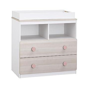 Novogratz Prism White Child Nursery Changing Table Dresser