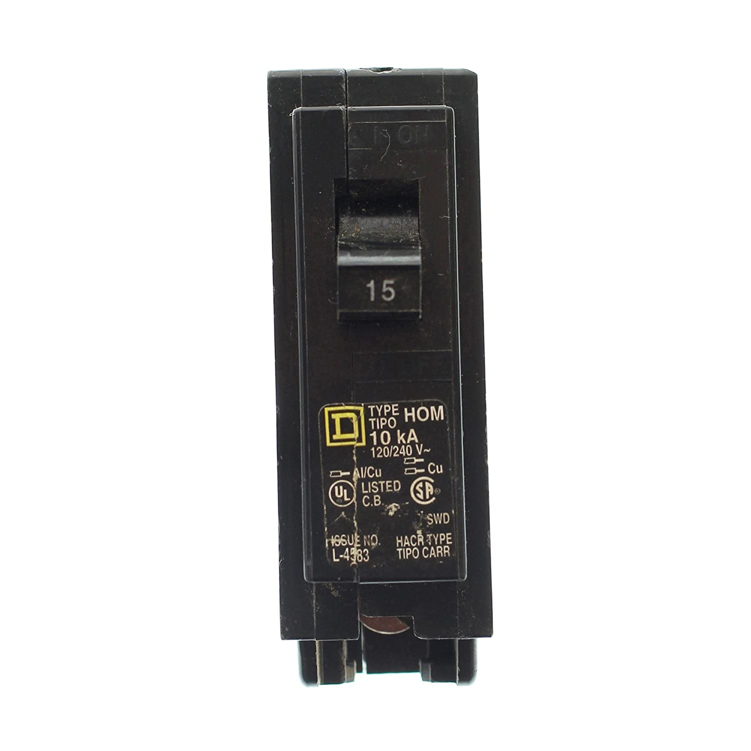 Plug In Circuit Breaker 1P 15 Amp 120/240VAC Schneider Electric Group CECOMINOD030135