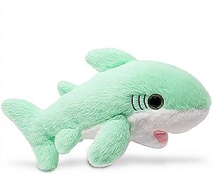 Fluffuns Stuffed Shark Plush Animal - Baby Shark Stuffed Animal Plush Toys - 12 Inch Length (Green)