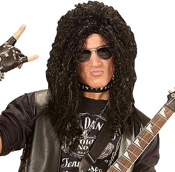 Original peluca años 80 punk para adulto - Negro - Increíble ...